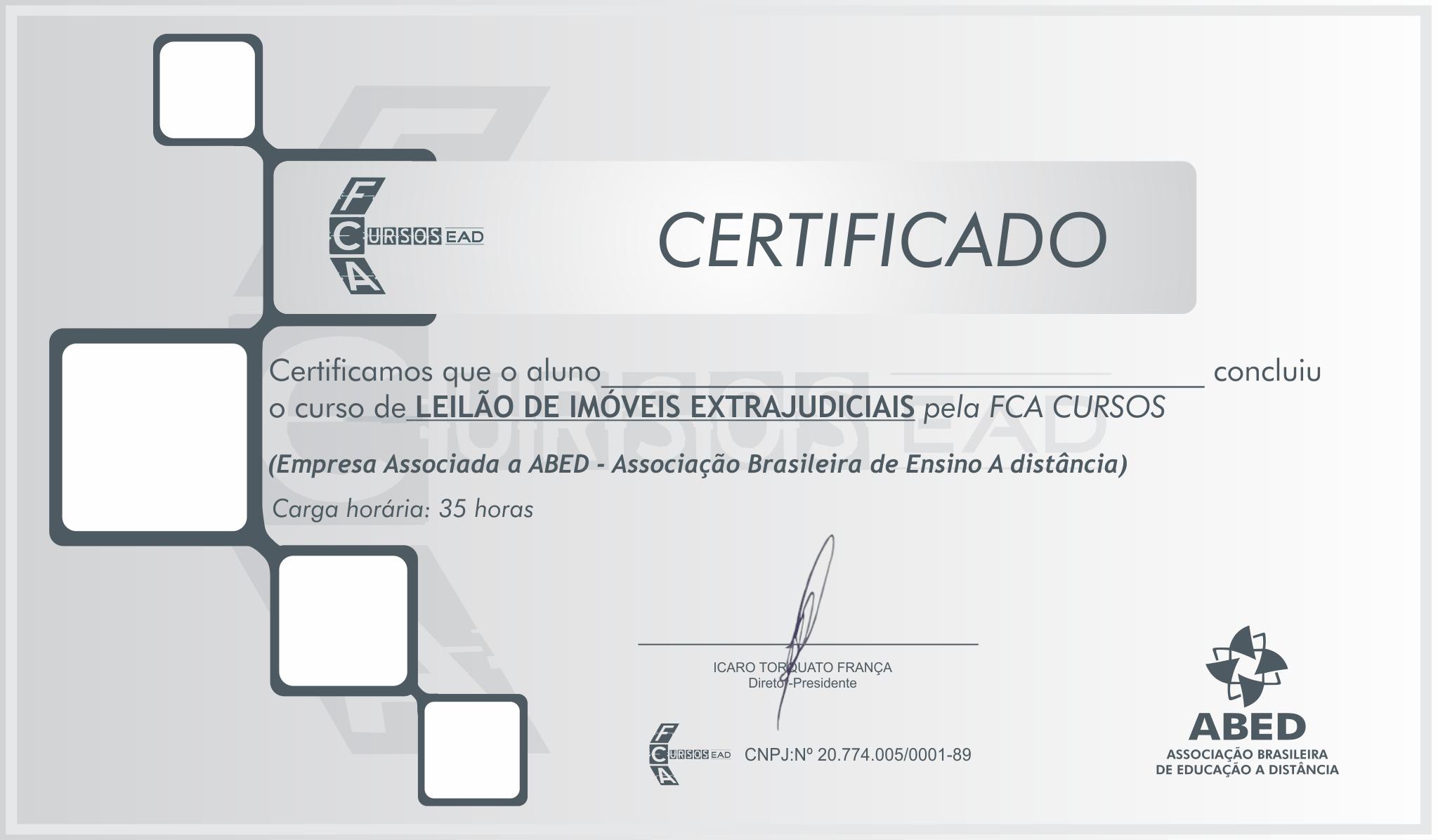 Certificado extrajudicial